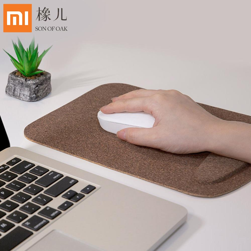 <font><b>Xiaomi</b></font> SON OF OAK Office Mouse Pad Oak Bark Wood Wrister <font><b>Mousepad</b></font> Portable Mouse Mat For Notebook, Computer Natural Table mat image