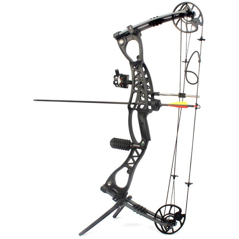 все цены на  Adjustable 40-65 LBS Compound Bow Arrow Speed 300 feet/s for Hunting Shooting Archery M127  онлайн