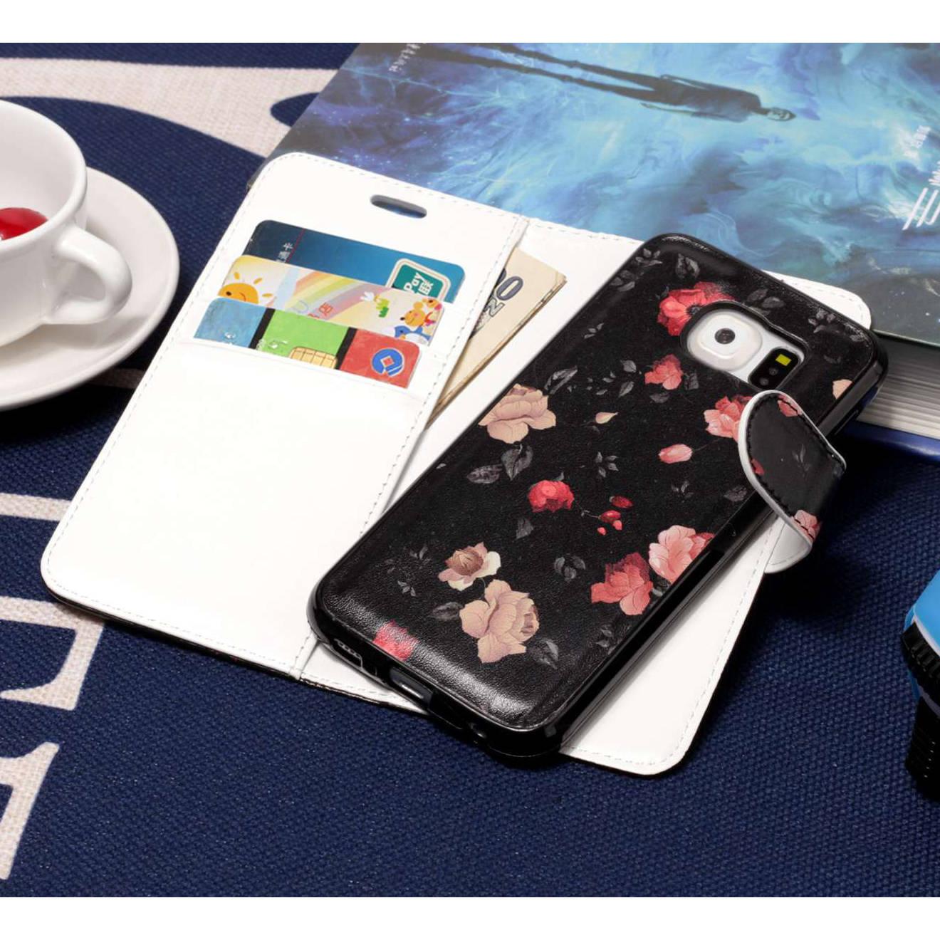 Misolocat для samsung Galaxy S6 G9200 флип чехол Роскошный кожаный бумажник Фолио Магнит Капа принципиально съемная