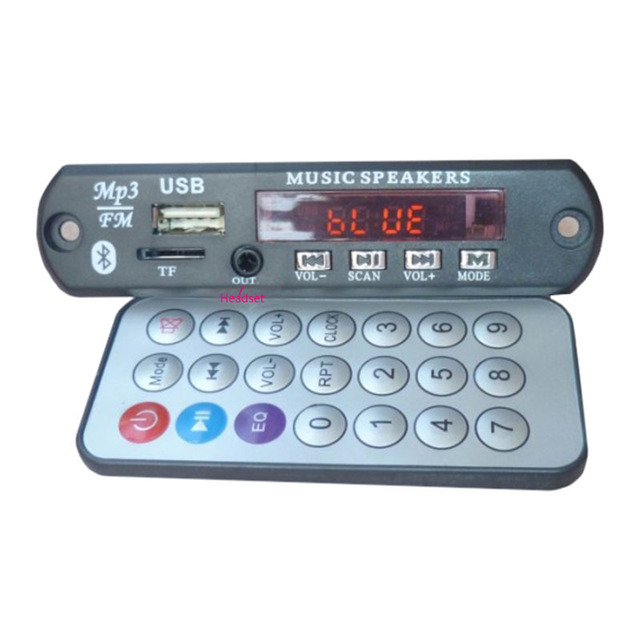 Cheap MP3 Decoder Board Power Amplifier Bluetooth Decodeing Board Car hands-free call MP3 Module with Remote control