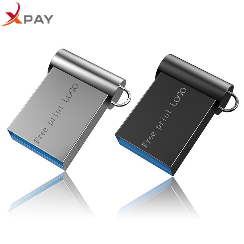XPAY MINI pendrive 128GB Usb flash drive 32GB USB 2.0 pen drive 16GB 8GB 4GB usb flash 64GB for gift flash disk Free Custom Logo-in USB Flash Drives from Computer & Office