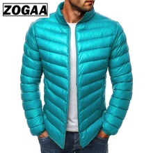 ZOGAA Men Parkas 2019 Spring Winter Jacket Casual Puffer Coat Solid Color Zipper Silm Fit Plus Size Man Warm