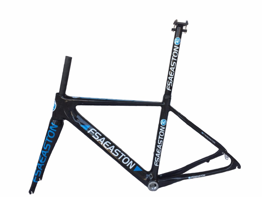 New FSAEASTON all carbon fiber road bike Bicycle frame with fork and seat tube track frame fixed gear frame bsa carbon 1 1 2to 1 1 8 bike frameset with fork seatpost road carbon frames fixed gear frameset