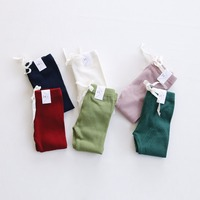 Mother And Daughter Pants Candy Solid Casual Pit Cotton Trousers Family Matching Clothes Mommy And Me