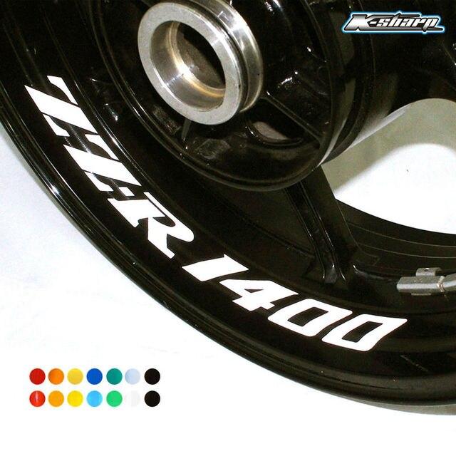 8 x custom inner rim decals wheel reflective stickers stripes fit kawasaki zz r 1400