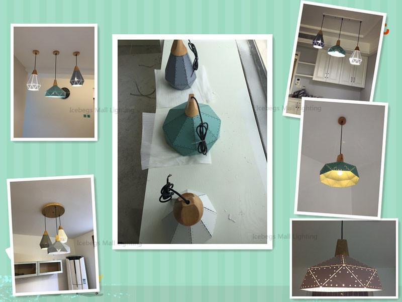 Nordic Loft Industrail Laser Cutting Home Pendant Lamps Lighting Modern Scandinavian Design Wood Hanging Light For Living Room30