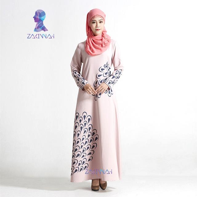 Nueva Llegada de La Manera Modal Mangas Impresos Ropa de Mujer Musulmana Abaya Islámico Turco de Alta Calidad Visten El Envío Libre