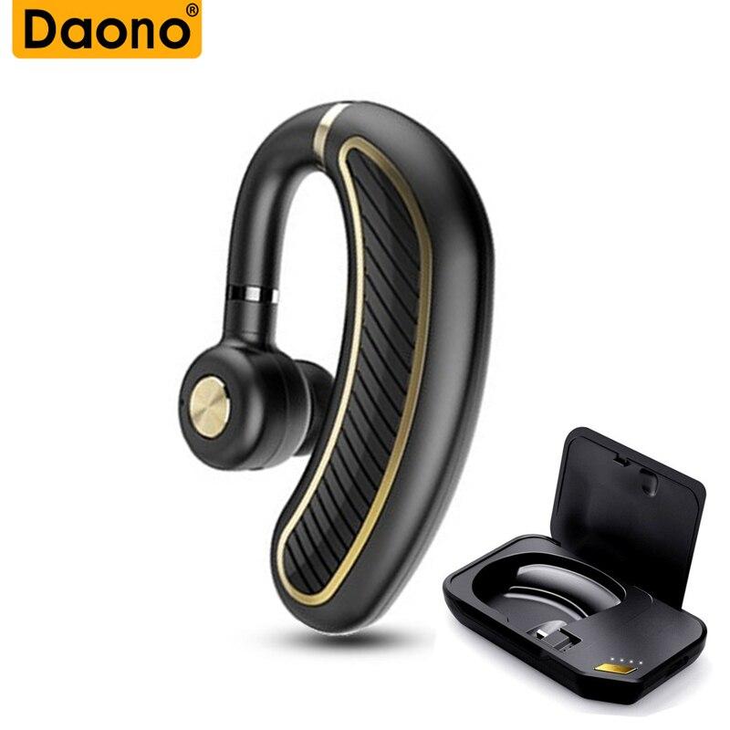 K21 Wireless Bluetooth Earphones With Charging Bin Handsfree Stereo Business Earhook Earphones For Mobilephone Xiaomi