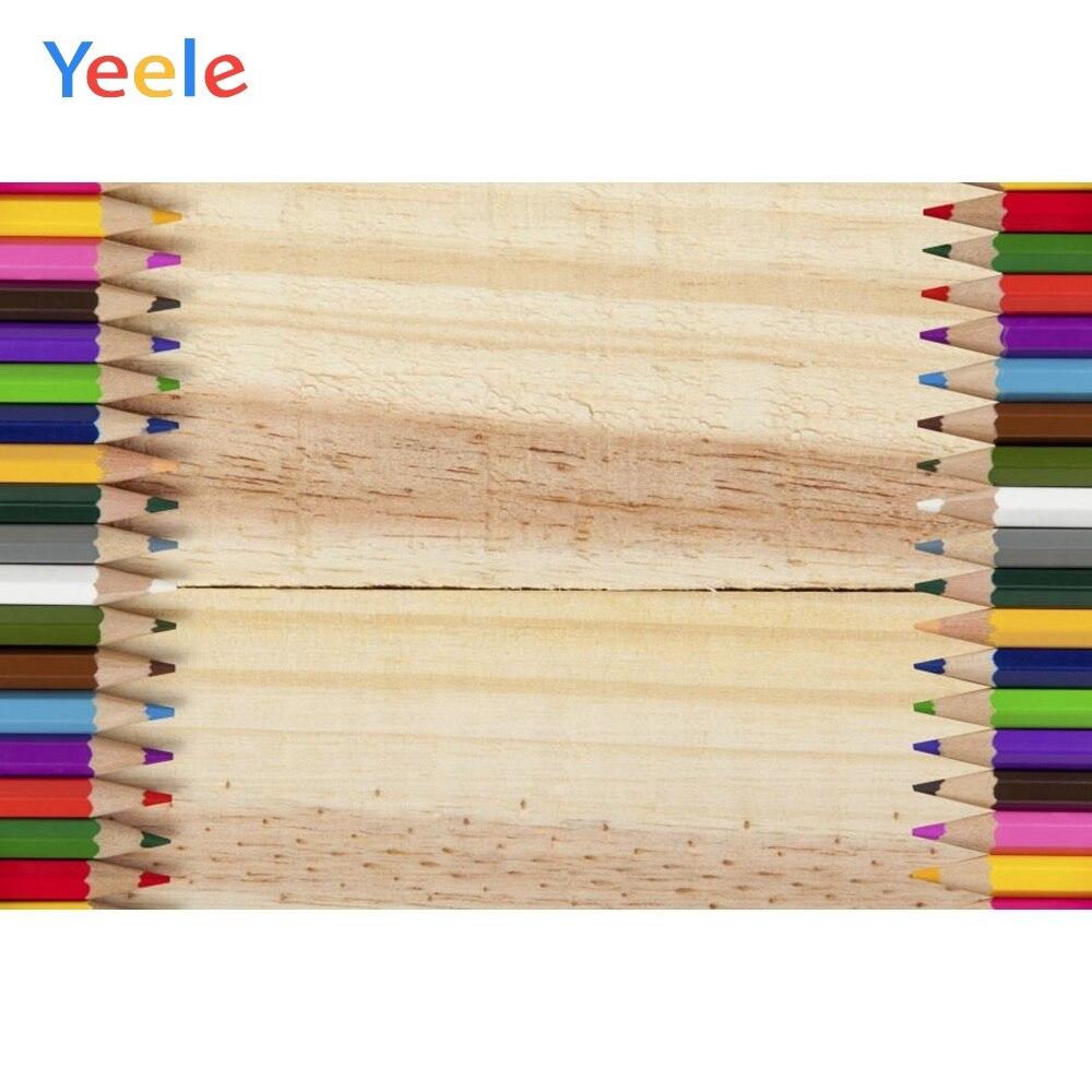 Yeele Vinyl Wood Board Pen Children Back To School Party Photography Backdrop Customize Photographic Background Photo Studio in Background from Consumer Electronics