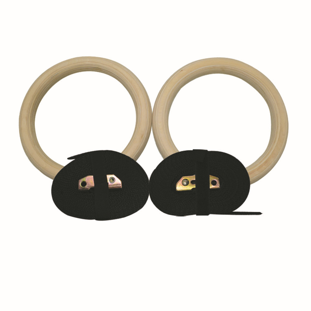 Wood Gymnastic Rings Gym Rings Thickness 28mm 32 mm with Adjustable Buckels & 4.5M Strap Gym Fitness Crossfit Home Workout gymnastic rings crossfit gym for upper body strength fitness and bodyweight excercising
