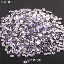 ZOTOONE Non HotFix Stones For Clothes Decoration FlatBack Resin Light Purple Rhinestones Strass crystal Applique DIY Nail Art E