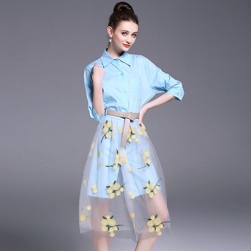 Костюм от брендов с юбками