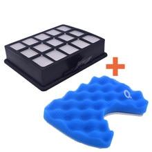 Kit de filtre et filtre éponge pour Samsung DJ97-00492A SC6520 SC6530 / 40/50/60/70/80/90 aspirateur filtre de rechange
