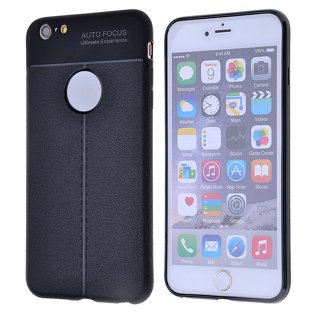 wholesale dealer c8c5e 8120f Lichee Pattern Auto Focus Protective Shell Case Cover For iPhone X 8 Plus 6  Plus/6S Plus
