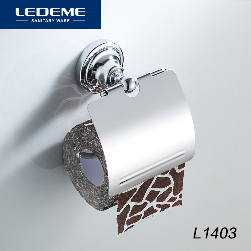 LEDEME Stainless Steel Toilet Paper Holder  Wall Mount Toilet Paper Holder Roll Paper Holder Bathroom Hardware L1403