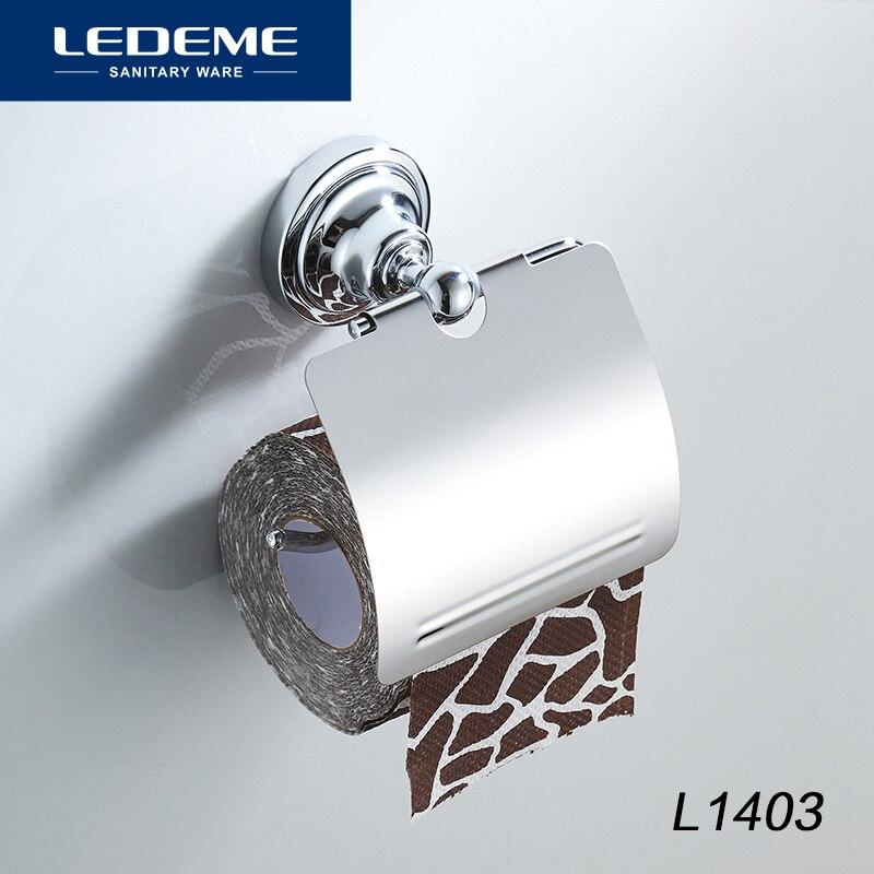 LEDEME Stainless Steel Toilet Paper Holder  Wall Mount Toilet Paper Holder Roll Paper Holder Bathroom Hardware L1403