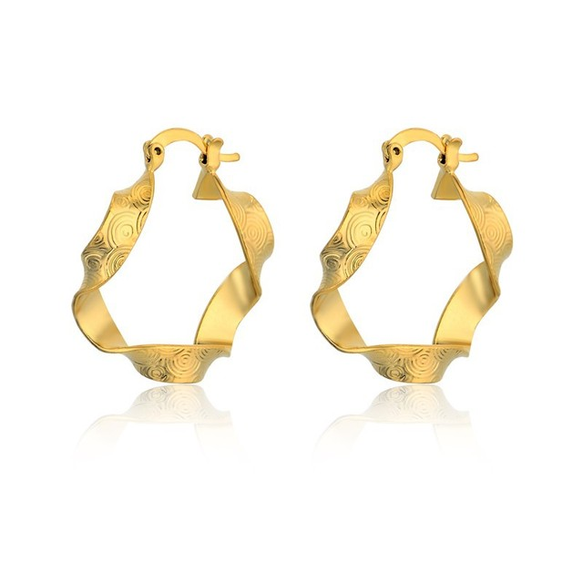 Vintage Gold Hoop Earrings Twisted Color Earings Online Ping India Circle For Women Jewelry