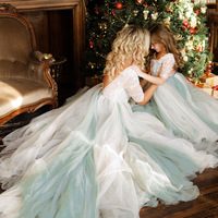 Mama and Daughter Dress Mommy and Me Clothes Summer 2019 Matching Family Outfits for Wedding Dresses for Party Long Dress