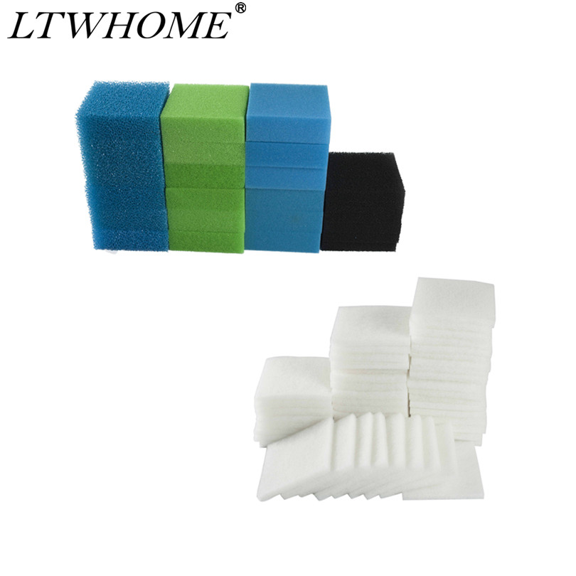 LTWHOME Value Pack of Fine Carbon Coarse Medium and Poly Filters Set Fit for Juwel Jumbo