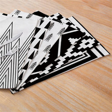 TTLIFE Creative Geometric Printed Kitchen Placemat Dining Table Mat Coaster Cotton Linen Polyester Pads