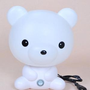 Image 4 - Panda/Dog/Bear Cartoon Night Light Kids Bed Lamp Night Sleeping Lamp For Children Room Light EU/US Plug
