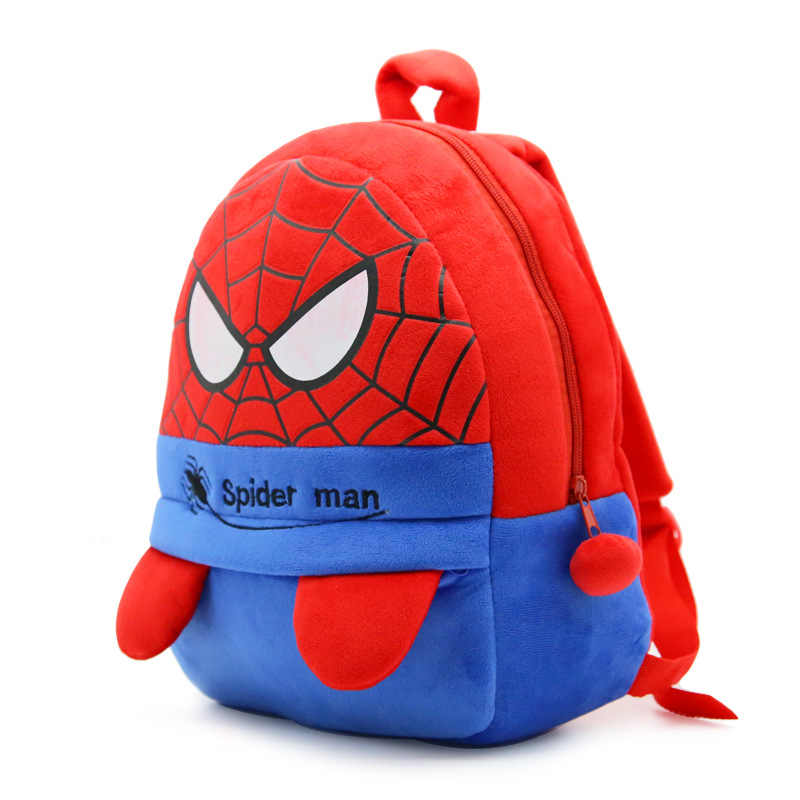 Baby Plush School Bag Children Plush Cartoon Spider man Backpack For  Kindergarten Kids Boys spiderman Schoolbags fa7c5361f4cf0