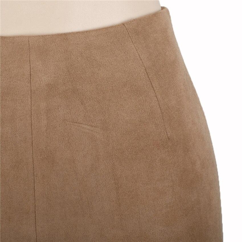 HTB1taDtQXXXXXbwaXXXq6xXFXXX6 - FREE SHIPPING Women Suede Mini Skirt JKP198