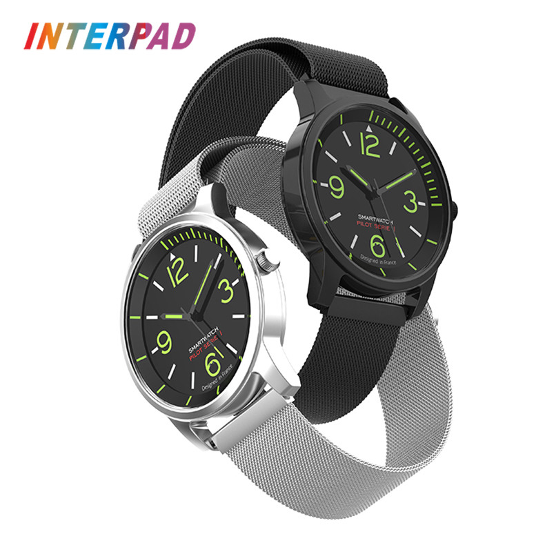 Interpad Smart Watch Quartz Watch Fashion Sport Pedometer For Android iOS Smartwatch Support 3ATM Waterproof SMS Reminder Watch