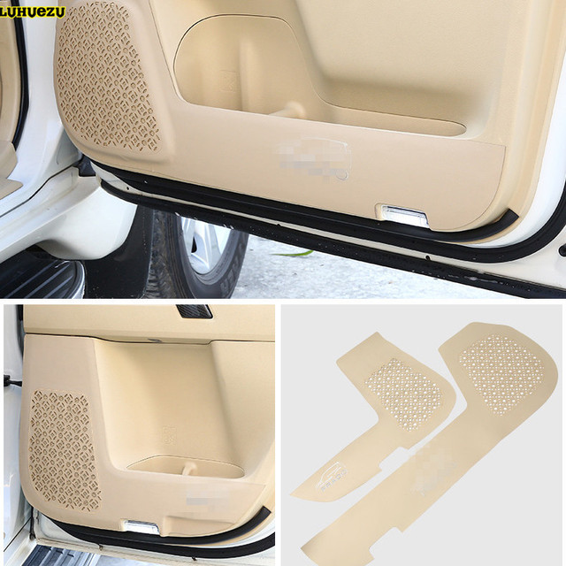 Luhuezu 4pcs Leather Car Door anti Kicking  Armrest Pad Cover For Toyota Land Cruiser Prado LC150 FJ150   2010-2018 Accessories