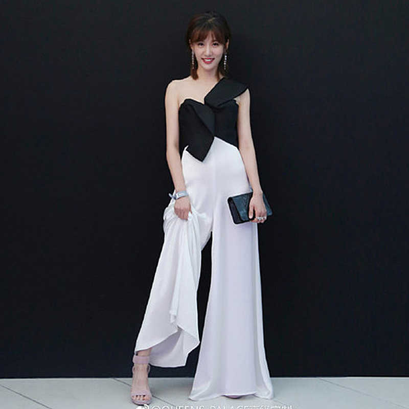 Rompers High Quality Runway 2018 Spring Summer New Fashion Women Party  Elegant Vintage Sexy Loose Trousers d0c46de55c43