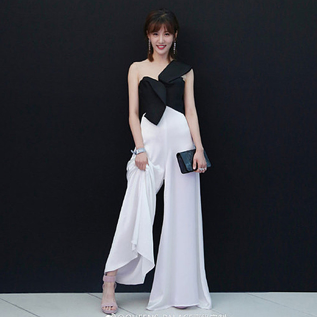 ce5b3e6bd3a Rompers High Quality Runway 2018 Spring Summer New Fashion Women Party  Elegant Vintage Sexy Loose Trousers Sleeveless Jumpsuits