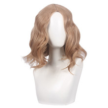Women Captain Marvel Coplay wig Women Blonde wavy hair gold wig costumes with free hair cap цены