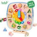 Brinquedos para as crianças do bebê Relógio De Madeira com Bloco Magnético para Caçoa o Presente brinquedos juguetes