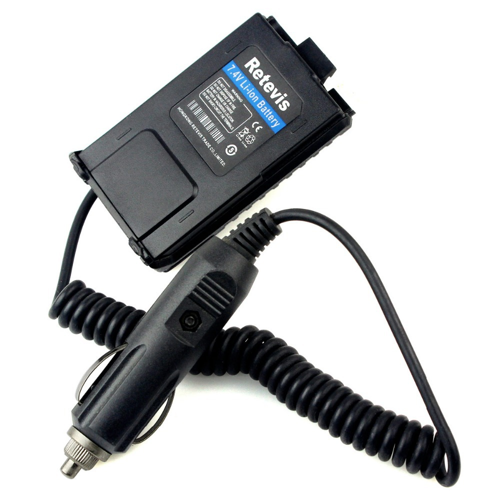 Retevis Battery Eliminator Adapter 12V For Baofeng UV-5R UV5R Retevis RT-5R Walkie Talkie Ham Radio Hf Transceiver C9011A