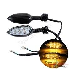 Moto Nero LED di Segnale di Girata Lampeggiatore Indicatore Luminoso Lampeggiante Lampada per Yamaha FZ 6R YZF R1 R6 TDM MT 07 09 25 YBR 125 250