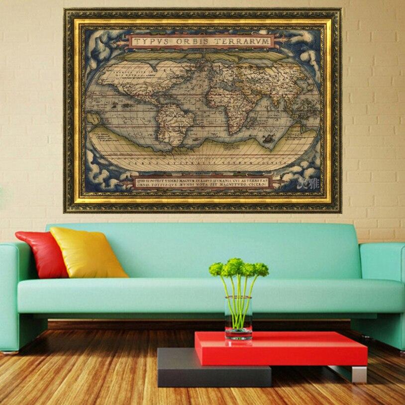 ISHOWTIENDA Vintage Style Retro Poster Globe Seekarte Geschenke ...