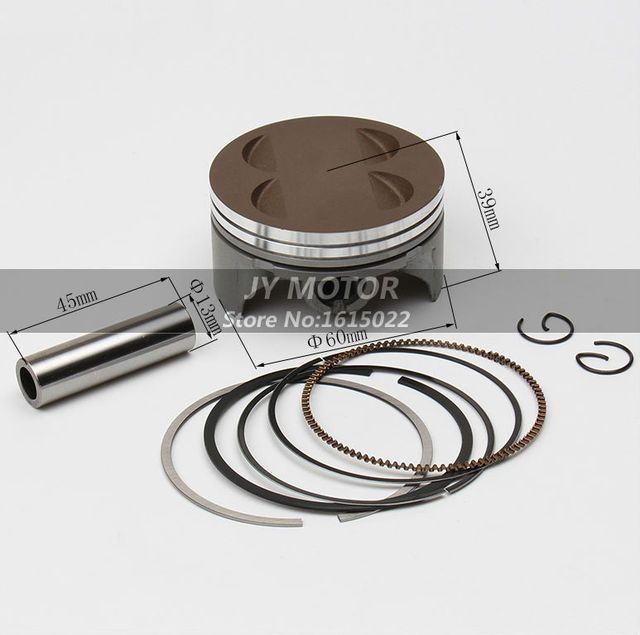 YinXiang YX160 4 valve Piston ring kit 60mm For Kitaco cylinder head YCF Stomp Thumpstar SDG GPX Pit Dirt Bikes
