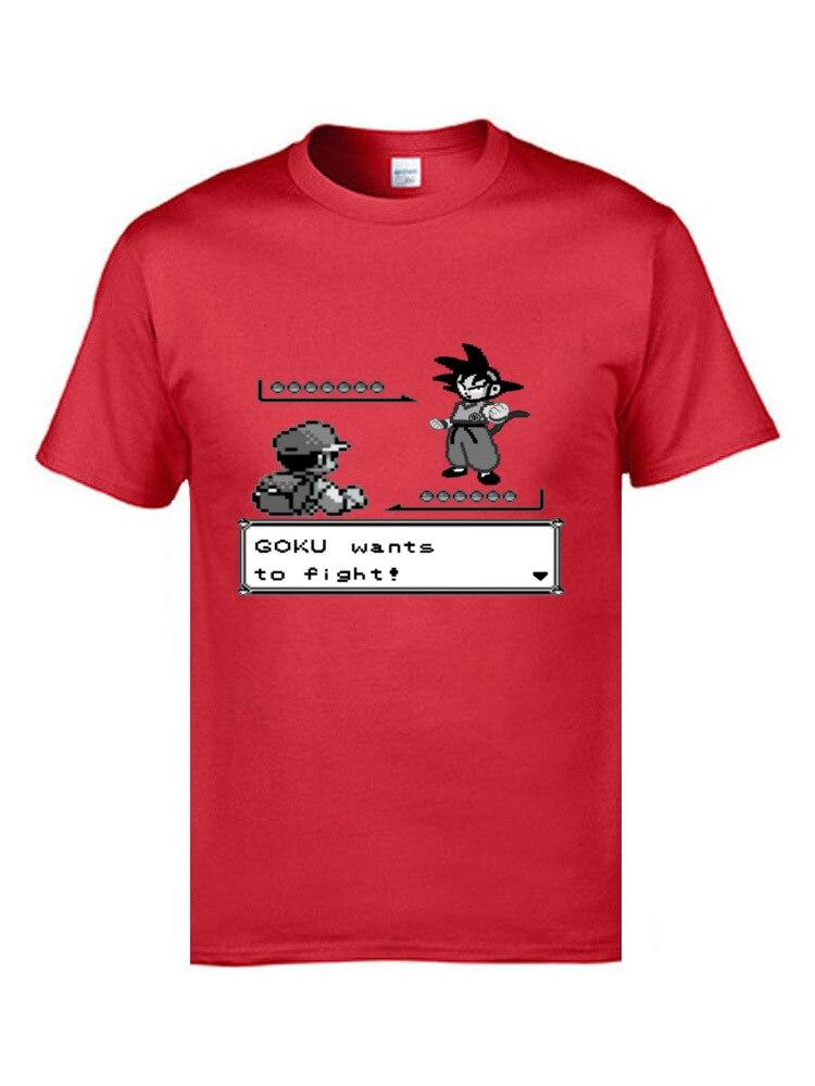 Pokemon Mario Dragonball Z Goku Animation T Shirts Teenage Student Game Tshirts 2019 Latest Funny Tees Fool's Day Gift T- Shirt