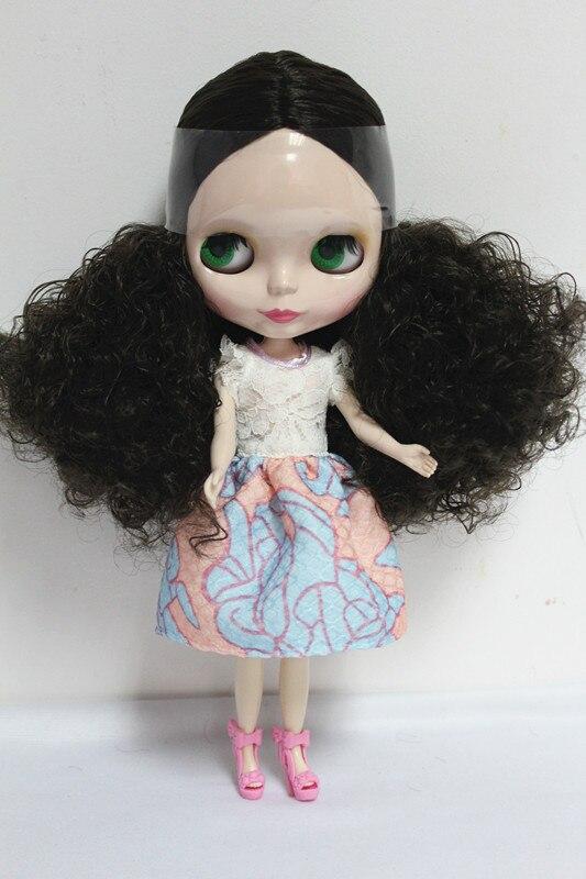 Free Shipping big discount RBL-5 DIY Nude Blyth doll birthday gift for girl 4 colour big eyes dolls with beautiful Hair cute toy