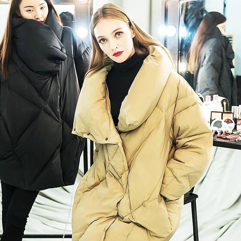 Bas Manches Doux Chaude Piste Veste Date 2017 Vers D'oie De Section Femmes Hiver Le Longue Épais Longues Efatzp Mode Duvet n8WZPwHzz