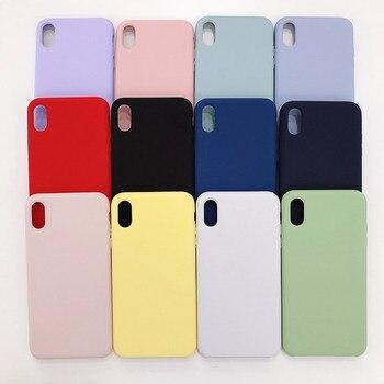 c490e793a85 Líquido Original Fundas para teléfonos de silicona para iPhone 7 7 Plus 6 6  s Plus
