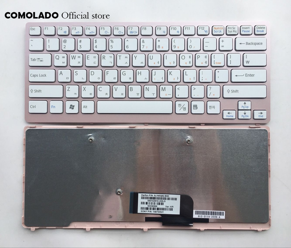 KR Korean Keyboard For Sony Vaio VPC-CW VPC CW VPCCW CW16EC CW18FC pink Frame Laptop Keyboard KR Layout Price $16.00