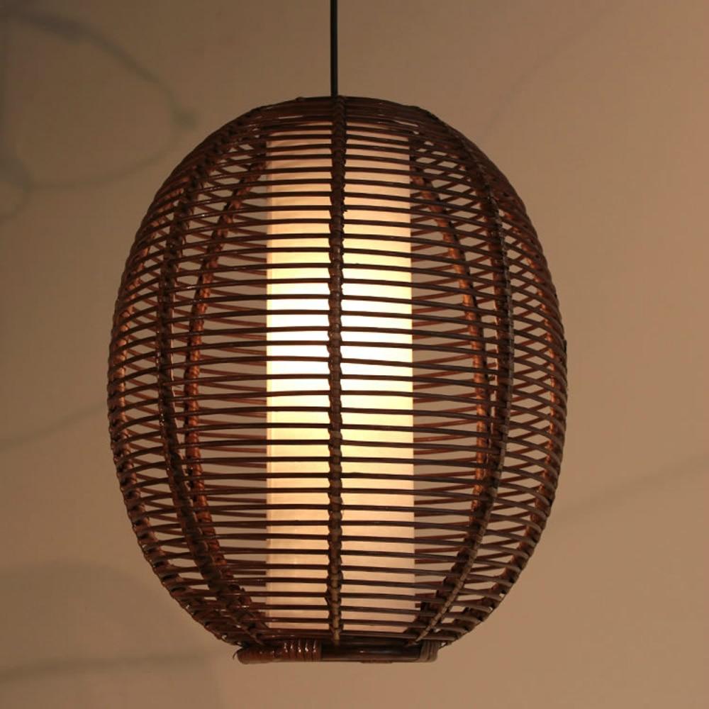 Southeast Asia Oval Rattan Restaurant Pendant Light Study