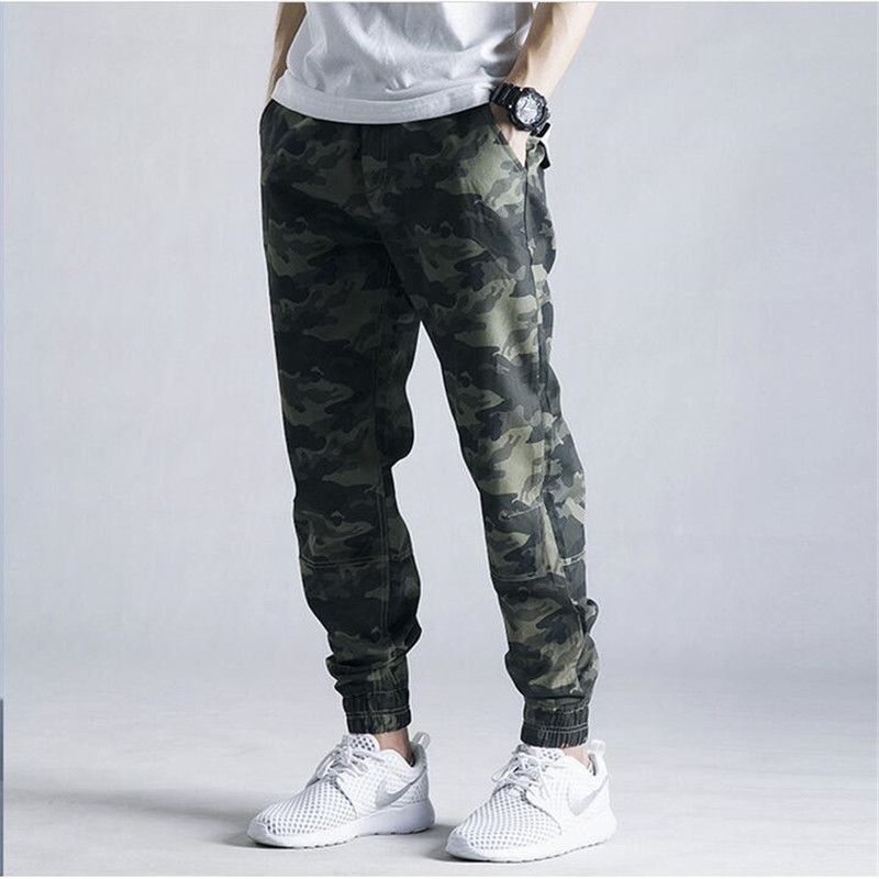 New Mens Jogger Autumn Pencil Harem Pants Big Size 5XL Camouflage Pants European And USA Style Casual Mens Cargo Joggers A3056 ...