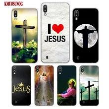 Transparent Soft Silicone Phone Case i love jesus jesus christ for Samsung Galaxy S10 S10e S10 Plus S10+ M10 M20 Cover cool stylish i love jesus bracelet brown