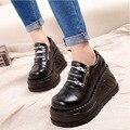Botas Femininas 2014 DEMONIA обуви бренда женщин оригинальные кожаные сапоги черные короткие сапоги мода ботильоны клинья бесплатная доставка