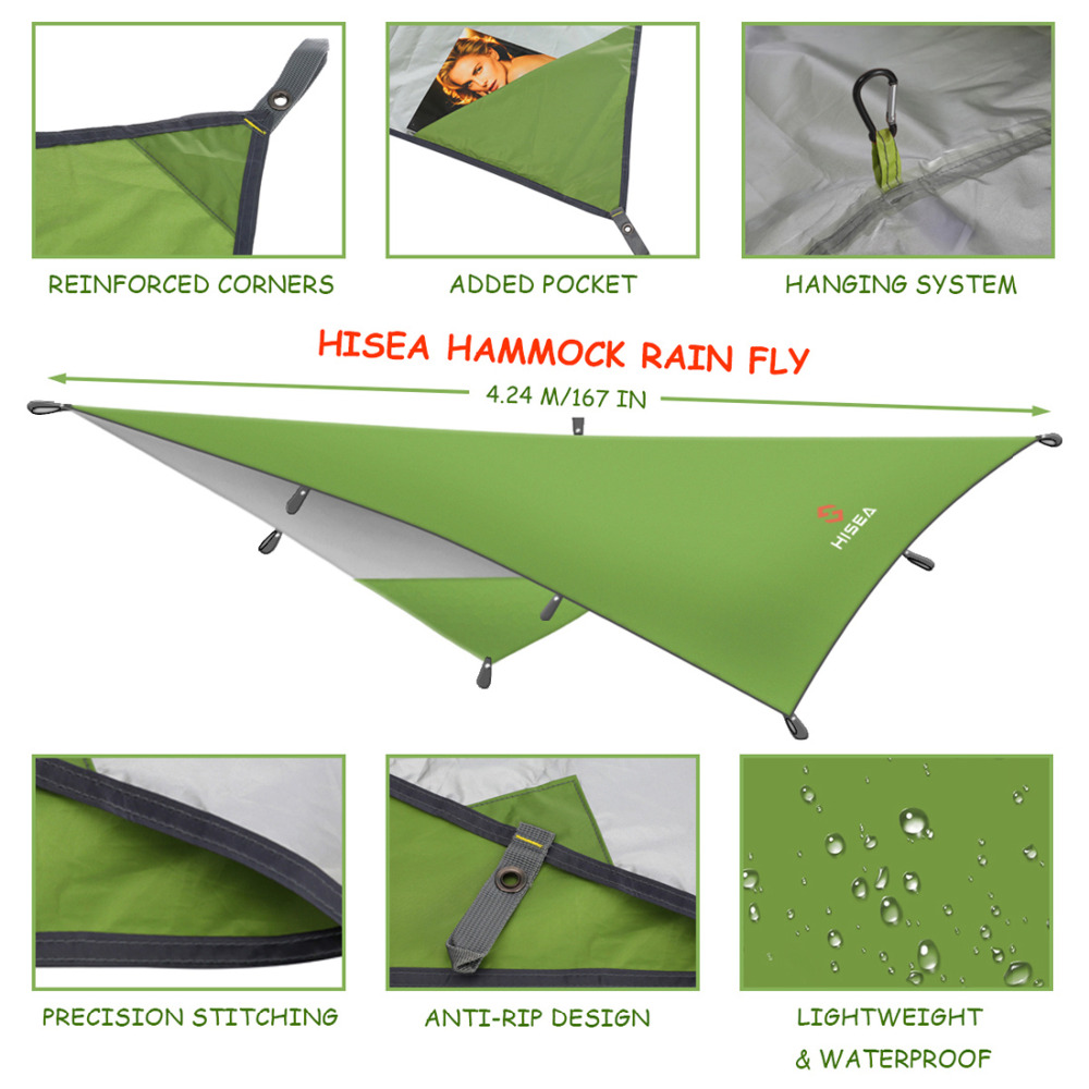 hisea hammock rain fly tent tarp shelter camping shelter rainfly sun shelters and sunshade for beach picnic in sun shelter from sports  u0026 entertainment on     hisea hammock rain fly tent tarp shelter camping shelter rainfly      rh   aliexpress
