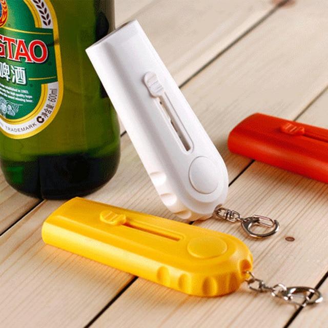 High Quality Portable Flying Cap Zappa Beer Drink Bottle Opener Opening Cap Launcher Top Shooter Gun Kichen Cooking Tool F1 1