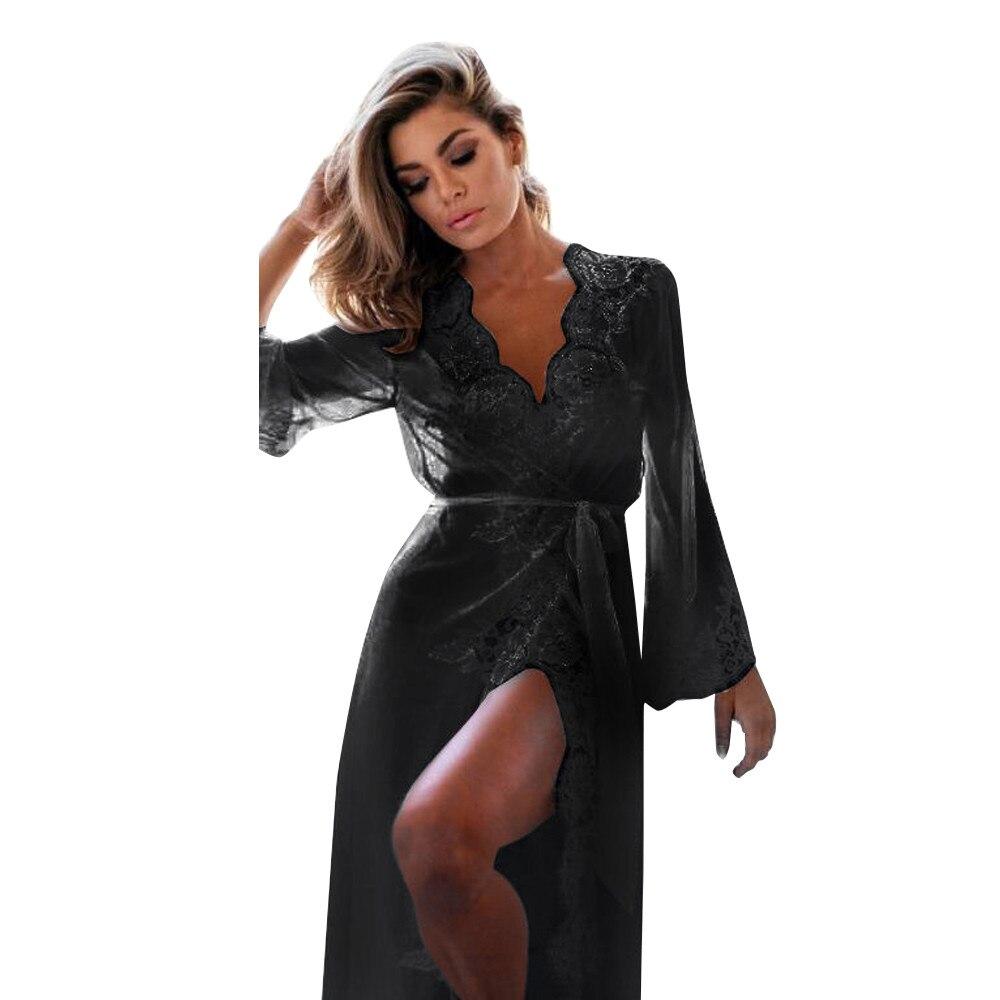 95bf44340bed KLV/2019 новые модные 2 шт белье Для женщин Babydoll ночная рубашка пижамы  комплект нижнего
