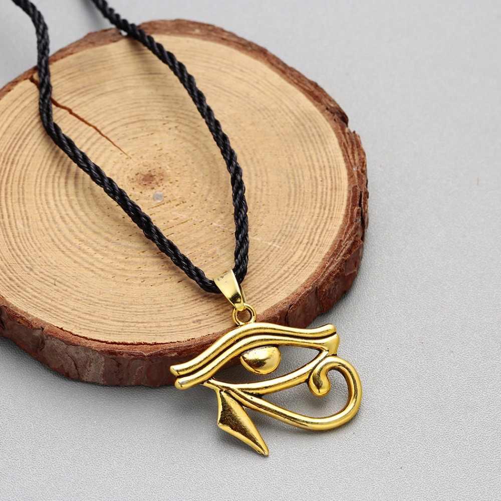QIMING ฟาโรห์ Horus Eye สร้อยคอผู้ชายผู้หญิง Vintage Hawk อียิปต์ Amulet จี้สร้อยคออียิปต์เครื่องประดับอุปกรณ์เสริม